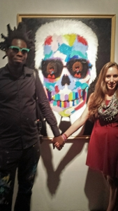 Bradley Theodore and I representing the 'communication' in his art